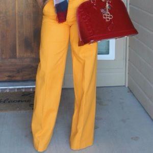 Zara yellow wide leg pant