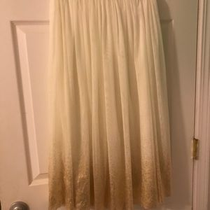 White & Gold Skirt.