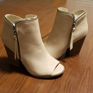 DV Melissa taupeopen toe heeled ankle boot NWT 7.5