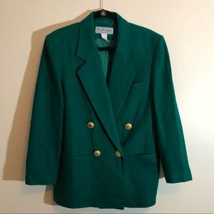 Worthington double breast green blazer size 10