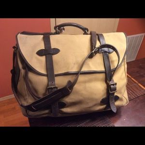 Filson large carry on travel suitcase retail $650