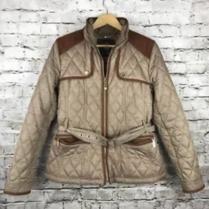 Vince camuto quilted puffer jacket elbow pads M