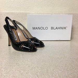 Manolo Blahnik Patent Leather Heel Size 35.5