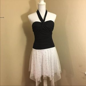 Dresses & Skirts - Black And White Tutu Style Fitted Dress