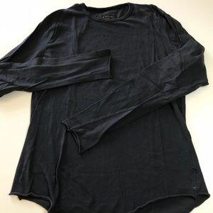 Rag & Bone unisex long sleeve T Shirt in Navy Blue