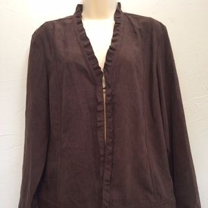 Chico's Chocolate Brown Light Clasp Jacket