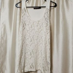 Lace dressy sleeveless top by the Limited