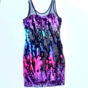 NWT Esley sequin and mesh bodycon NYE dress