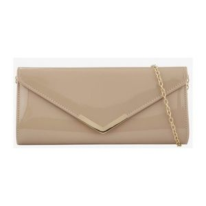 Nude and gold Aldo clutch