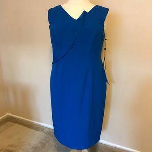 🔸 NWT Blue Adrianna Papell sleeveless dress 16W