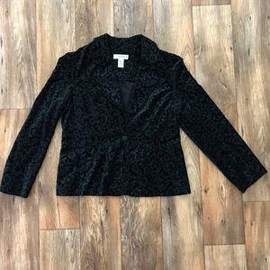 SAG HARBOR Women Blazer Black Coat Fancy Jacket