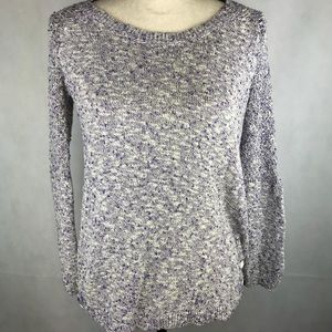 Lucky Brand Purple Knitted Sweater Button sides