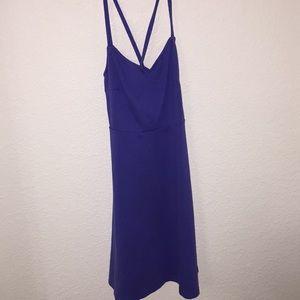 Purple crisscrossed strapped dress