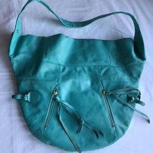 Foley + Corinna XL NWOT Turquoise Tote Satchel Bag