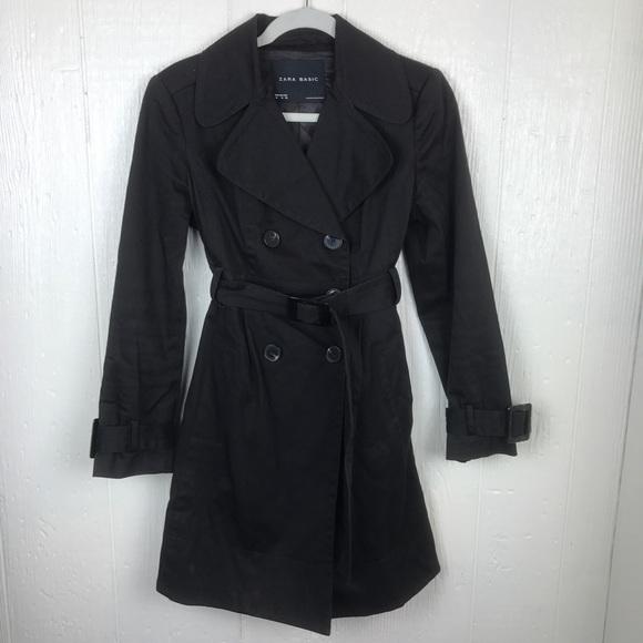 21d8650d6caa Zara Jackets & Coats   Basics Trench Coat Black Shirt Size M   Poshmark