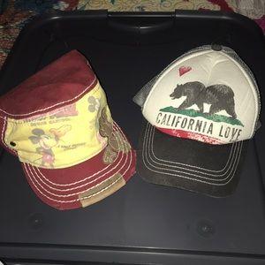 Disney/ Cali hats