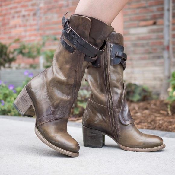 e8c372d8b2f Freebird Steve Madden Caden Brown Chunky Heel Boot