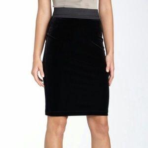 BCBGmaxazria Velvet Pencil Skirt