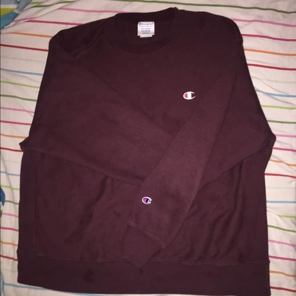 202eea74 Champion Shirts | Burgundy Sweatshirt Read Description | Poshmark