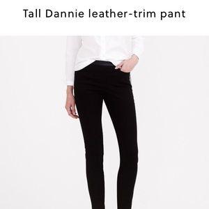 J. Crew Tall Dannie Leather Trim Pant. Item B1493.
