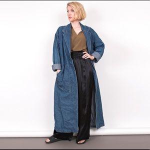 Vintage 90s denim longline maxi duster jacket