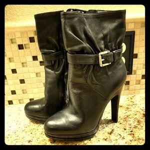 Michael Kors short boots with zipper detail