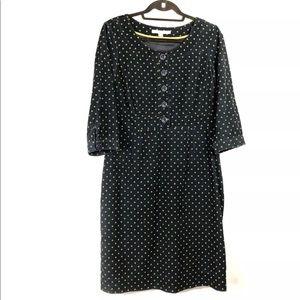 Boden Shift Dress Spot Polka Dot Needle Corduroy
