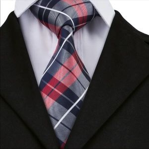 Other - 🎉Just In🎉100% Silk Jacquard Woven Plaid Necktie