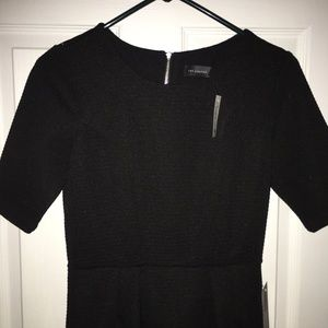 NWT THE LIMITED Black 3/4 Sleeve Knee Lenght Dress