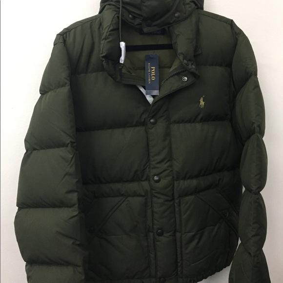 NEW POLO RALPH LAUREN DOWN PUFFER VEST Sz L Men/'s Black Gray or Green XL