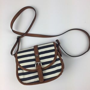 Handbags - Kelly & Katie striped canvas crossbody purse bag