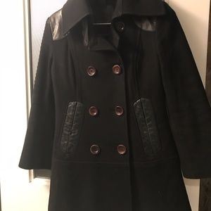 Mackage Peacoat Leather Wool XS
