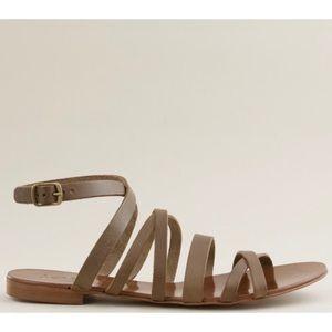 J Crew brown deseree strappy gladiator sandal 9