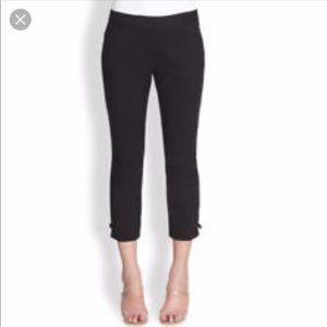 Kate Spade Black Cigarette Capri Pants, Bows