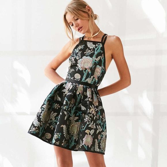 468c58895 Urban Outfitters Dresses | Kimchi Blue Hidden Dragon Jacquard Mini ...