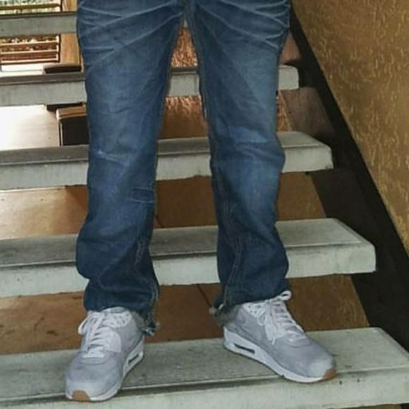 Nike air max airmax 90 suede grey (gum bottoms)