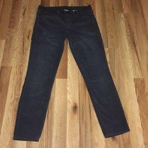 Jcrew grey skinny corduroy pants