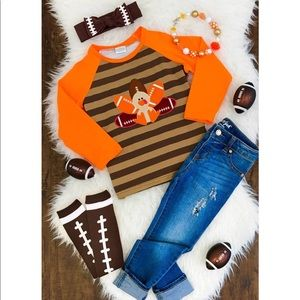 Other - Orange and Brown Football Turkey T-shirt