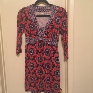 Boden Geometric Floral Dress