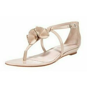 LOEFFLER RANDALL Beige Patent Leather Sandals