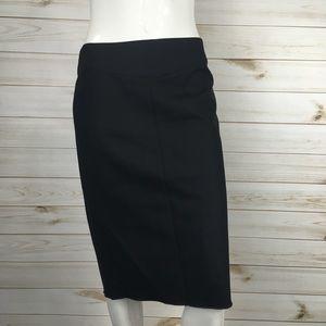 BCBGMAXAZRIA Wool Blend Black Career Pencil Skirt