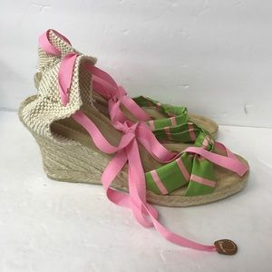 J crew shoes heels wedges women size 8 multi color