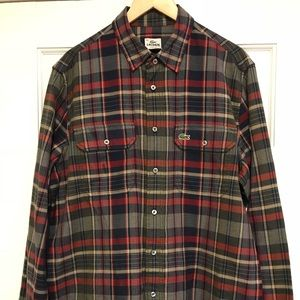 c8077dd9 Lacoste Button up Flannel long sleeve