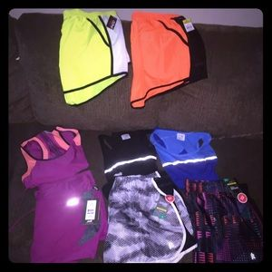 Bday bundle #2!  8 Pc Danskin shorts/tanks XL NEW!
