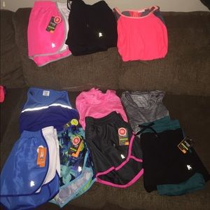 Bday bundle3!  10 Pc Lot Danskin shorts/tanks NEW!