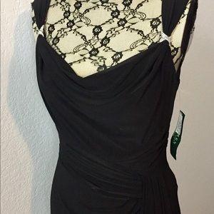 Ralph Lauren Black Midi Cocktail Dress