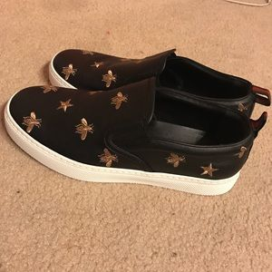 3e4b2a5f7 Gucci Shoes | Gold Bee Slip On Sneakers | Poshmark