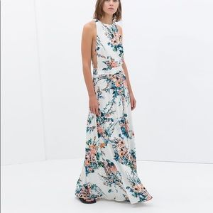 Zara floral maxi dress size xs