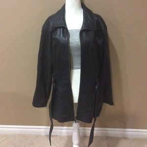 Kenneth Cole Reaction Leather Jacket  sz Medium