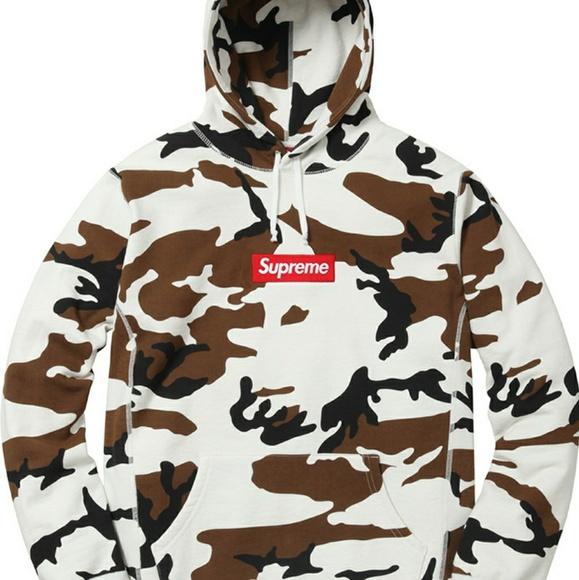purchase cheap 55df1 fba5b Supreme Box Logo Hooded Camo Sweatshirt